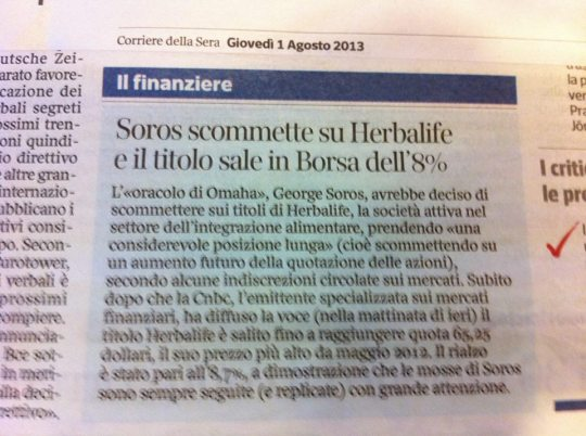 Corriere della Sera 1. Agosto 2013