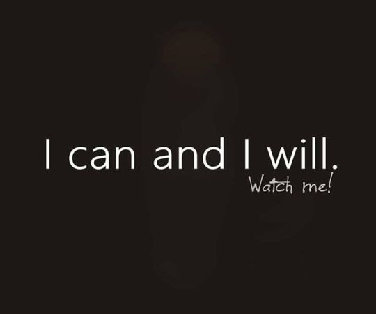I can and I will...